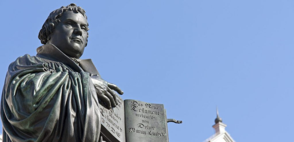 Monument av Martin Luther i Wittenberg, Tyskland. Foto: ThinkStock-185237726-typo-graphics