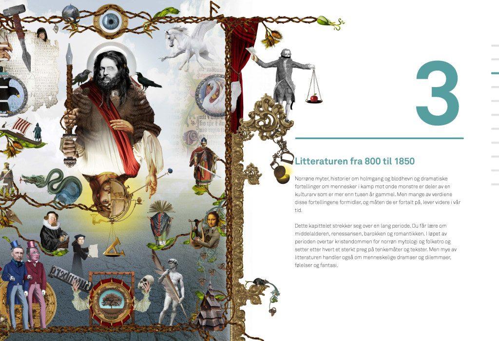 Kontakt Påbygging. Kapittel 3 Litteraturen fra 800 til 1850. Ill. André Martinsen