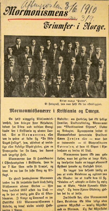 «Mormonismens Triumfer i Norge».