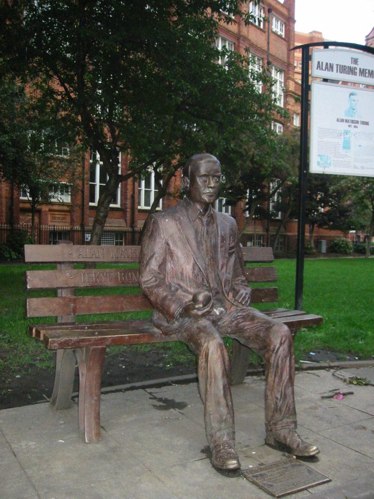 Alan Turing minnestatue i Sackville Park.