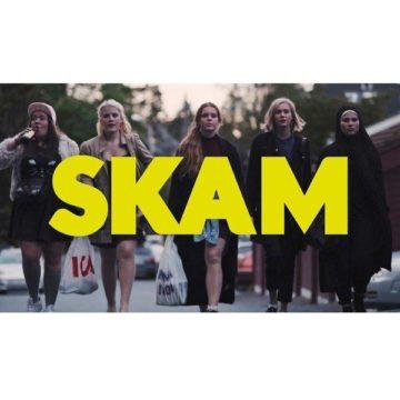 Jentene fra Skam på vei til fest