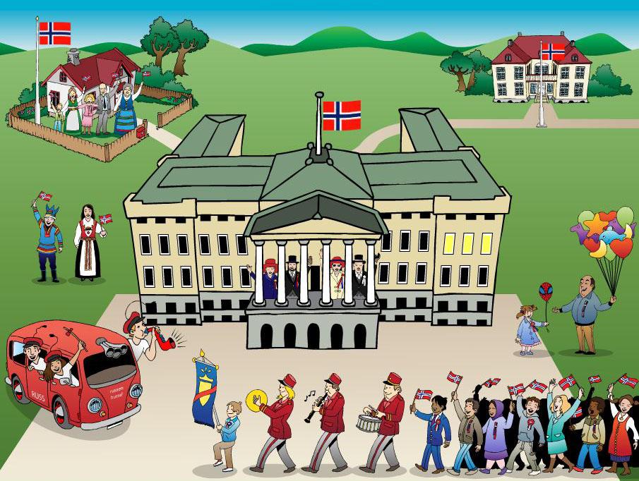 Illustrasjon fra minikurs om 17. mai
