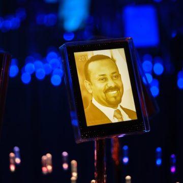Portrettbilde av Abiy Ahmed Ali, i Nobels hage