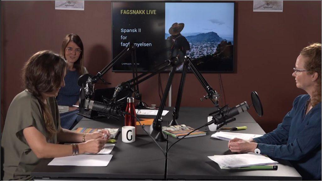 Til opptak av videopodcast om Encuentros for spansk 2 i fagfornyelsen